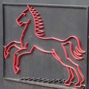 Rotes Pferd